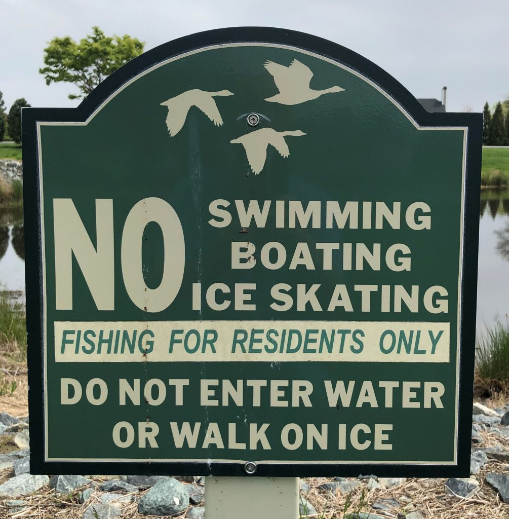 Usage alert for all retention ponds